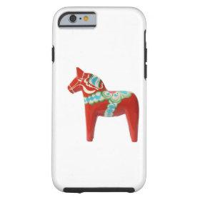 Red Swedish Dala Horse Tough iPhone 6 Case