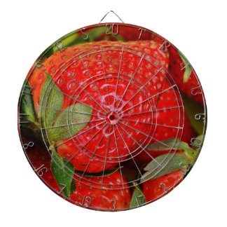 Red Sweet Strawberries Dartboard With Darts