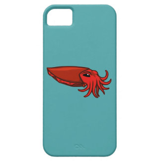 Red Swimming Cuttlefish iPhone SE/5/5s Case