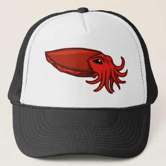 Red Swimming Cuttlefish Trucker Hat
