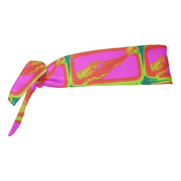 Beach Themed red swimming mermaids Thunder_Cove Tie Headband