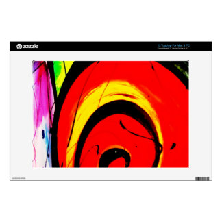 """Red Swirl Abstract Art Decals For 13"""" Laptops"""