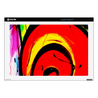 Red Swirl Abstract Art Laptop Decal