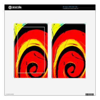 Red Swirl Abstract Art Skin For Kindle Fire