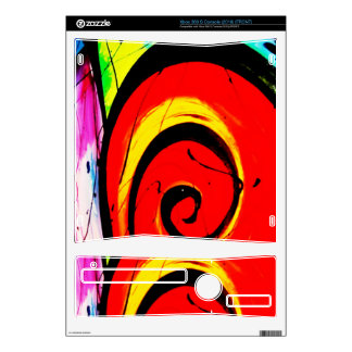 Red Swirl Abstract Art Xbox 360 S Console Decal