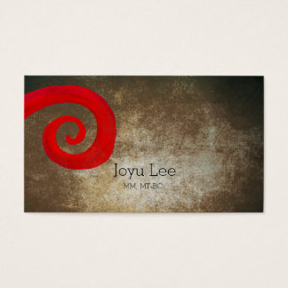 Red Swirl Business Card