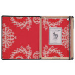 Red Swirl Case For iPad