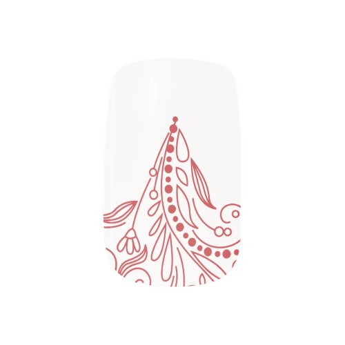 Red Swirl Christmas Nail Art Minx® Nail Wraps