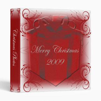 Red Swirl Christmas photo binder