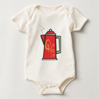 Red Swirl Coffee Pot Baby Bodysuit