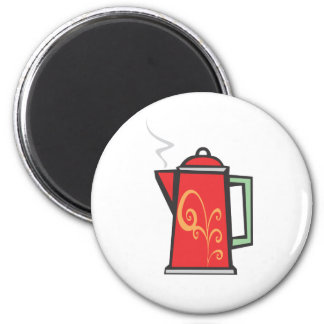 Red Swirl Coffee Pot Magnets