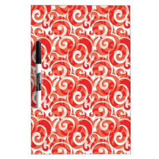 Red Swirl Dry-Erase Board