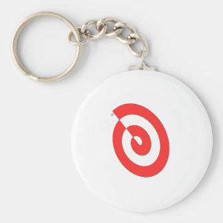 Red Swirl Keychain