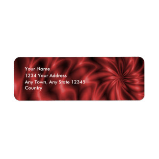 Red Swirl Label