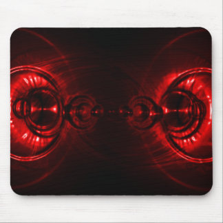 Red Swirl Lens Flare Mouse Pad