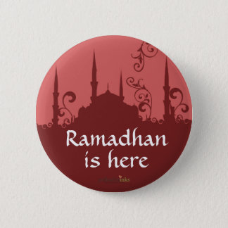 Red Swirl Mosque Pin