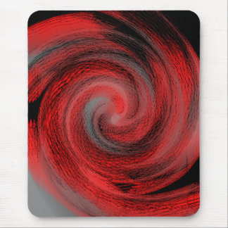 red swirl mouse pad