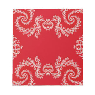 Red Swirl Notepad