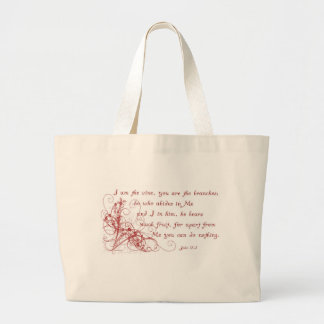 Red Swirl on Navy Tote