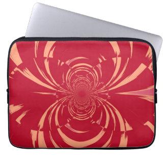 Red Swirl Retro Art Deco Computer Sleeve