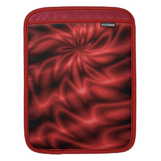 Red Swirl Sleeve For iPads