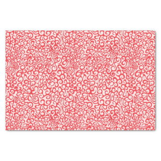 Red Swirl Tissue Paper