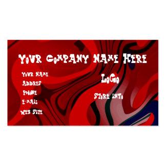 RED SWIRLS BUSINESS CARD