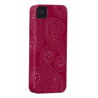 Red Swirls Case-Mate iPhone 4 Case