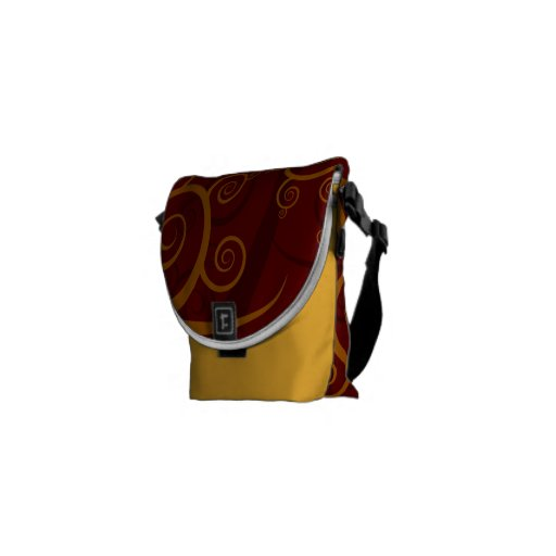 Red Swirls Courier Bag
