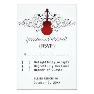 Red Swirls Guitar Response Card