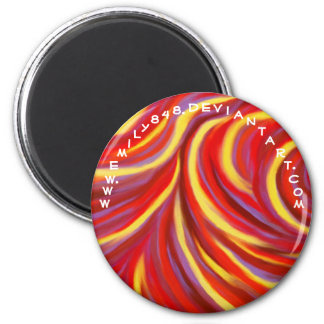 Red Swirls 2 Inch Round Magnet
