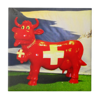 Red Swiss cow Tile
