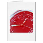 Red Swiss Watch Face Card