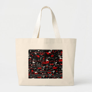 Red symphony large tote bag