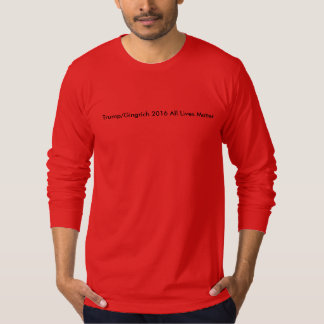 Red t-shirt black text Trump/Gingrich