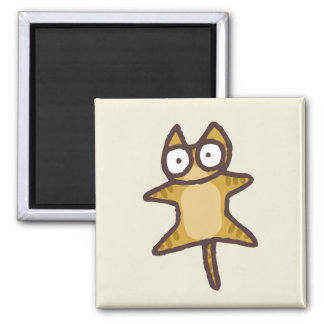 Red Tabby Cat 2 Inch Square Magnet