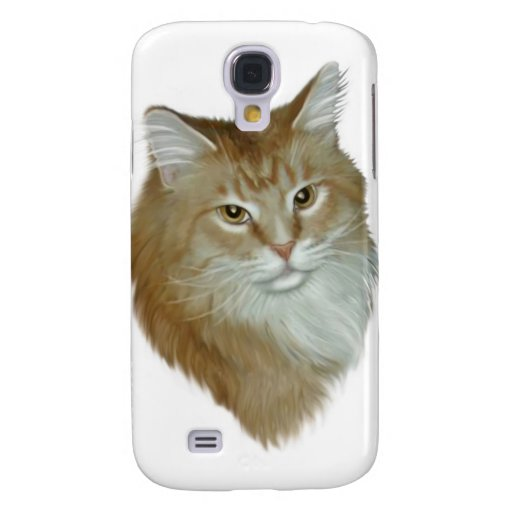 Red Tabby Maine Coon Galaxy S4 Cases