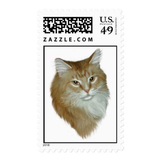 Red Tabby Maine Coon Postage Stamps