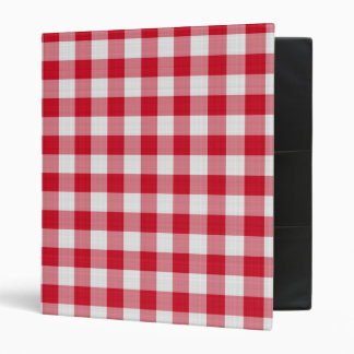 red table cloth, 3 ring binder