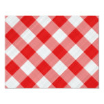 red table cloth 4.25x5.5 paper invitation card