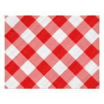 red table cloth custom invites