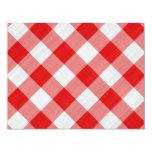 red table cloth custom invites