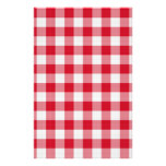 red table cloth customized stationery