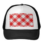 red table cloth mesh hats