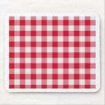 red table cloth mouse pad