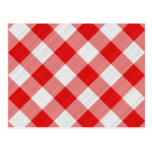 red table cloth postcard
