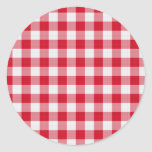 red table cloth round stickers