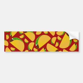 Red taco pattern car bumper sticker