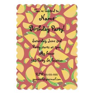 Red taco pattern custom invites