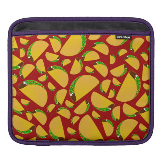 Red taco pattern sleeve for iPads